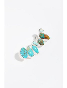 Sterling Raw Stone Ear Climber by Free People