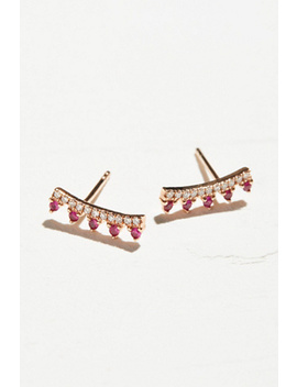 14k Ruby & Diamond Maiden Ear Climbers by Free People