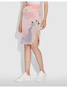 Selena Lace Detail Skirt by Coach