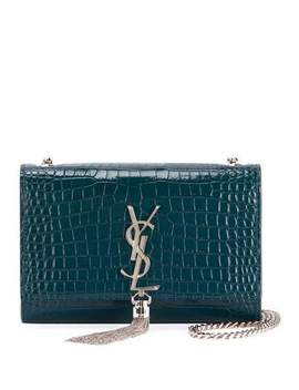 Kate Monogram Ysl Small Tassel Croco Shoulder Bag by Saint Laurent