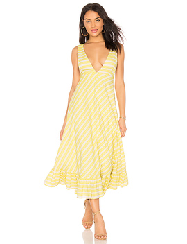 Ali Ruffled Hem Dress by Line & Dot