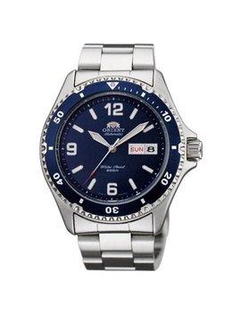 Orient Aa02002 D Men's Mako Ii Blue Dial Steel Bracelet Automatic Dive Watch by Orient