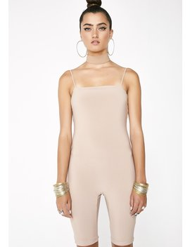 Mocha So Devious Tank Jumpsuit by Lux La