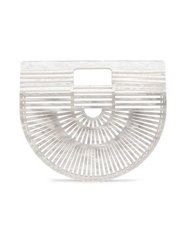 White Ark Mini Acrylic Tote Bag by Cult Gaia