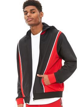 Colorblock Hooded Track Jacket by Forever 21