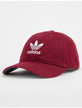 Adidas Originals Relaxed Burgundy Dad Hat by Adidas