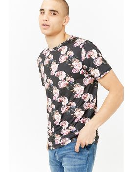 Super Massive Floral Jersey Tee by Forever 21