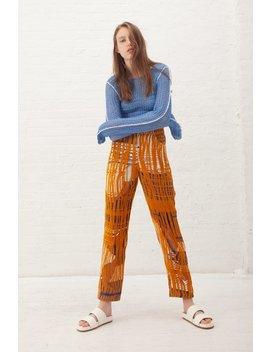 Luna Del Pinal Trousers   Gold/Indigo by Garmentory