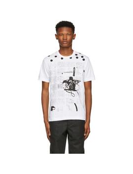White & Black Basquiat Print T Shirt by Comme Des GarÇons Shirt