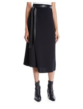 Belted Wrap Midi Skirt by Vince