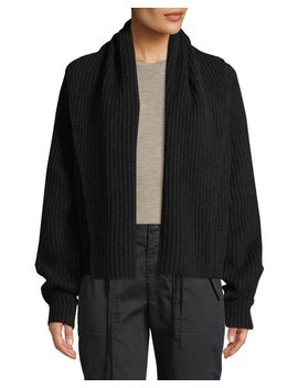 Oversized Shawl Collar Wool Cardigan by Vince