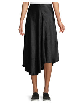 Bias Cut Asymmetric Midi Skirt by Vince