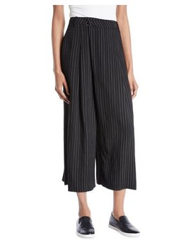 Striped High Rise Cropped Culotte Pants by Vince