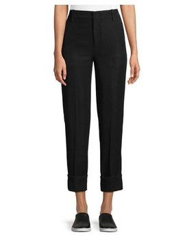 Cuffed Straight Leg Crepe Trousers by Vince