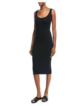 Ribbed Scoop Neck Tank Dress by Vince