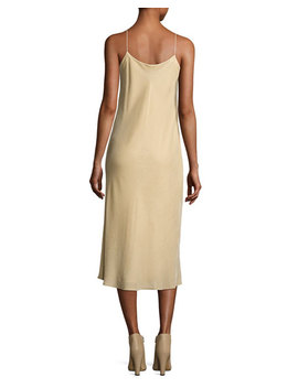 Velvet Camisole Slip Dress, Dill by Vince