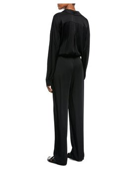 Cross Front Long Sleeve Jumpsuit by Vince