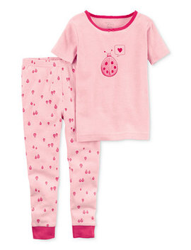 Little Planet Organics 2 Pc. Ladybug Cotton Pajama Set, Baby Girls by Carter's