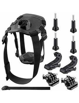 Neewer Go Pro Dog Harness Accessories Kit For Go Pro Hero 6 5 4 3+ 3 2 1 Hero4 Session, Sj4000 5000 6000 7000 Dbpower Akaso Vic Tsing Wi Mi Us Rollei Qumox Lightdow Campark Und Sony Sports Dv And More by Amazon