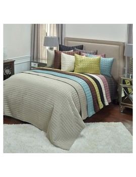 Geometrical Poly Satin Maddux Place Quilt Set   Rizzy Home® by Shop All Rizzy Home