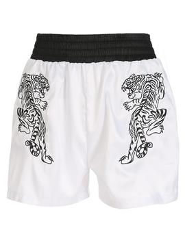 Thger White Embroidery Shorts by Dog Dog