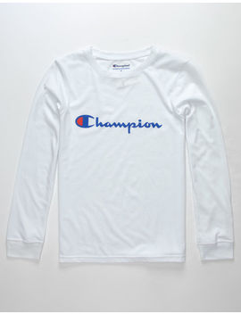Champion Heritage White Boys T Shirt by Champion