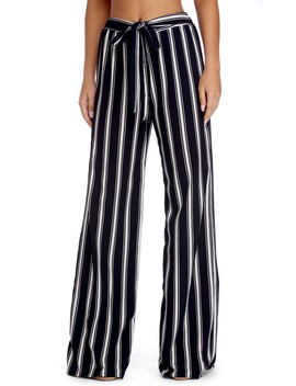 Striped And Flowy Straight Leg Pants by Windsor