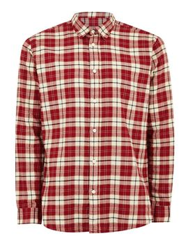 Selected Homme Red Check Organic Cotton Shirt by Topman
