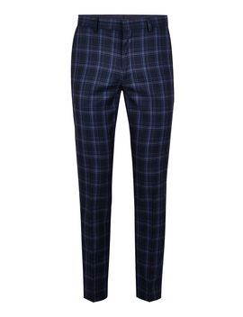 Blue Check Skinny Pants by Topman