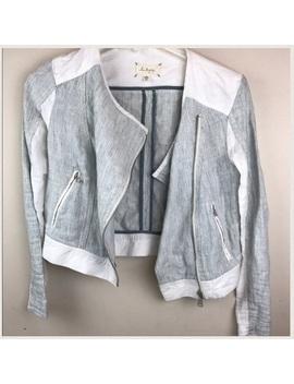 Linen Biker Jacket by Lou & Grey
