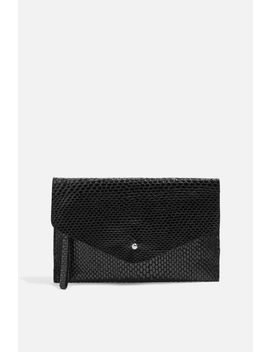 Leather Faux Snake Envelope Purse by Topshop
