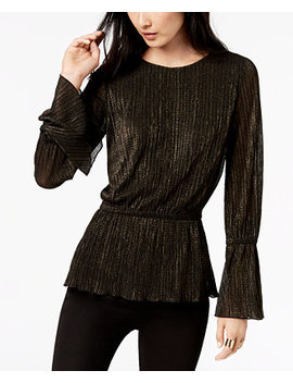 Bell Sleeve Cinched Waist Top by Michael Michael Kors