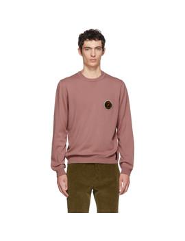 Pink Circle Logo Sweater by Fendi