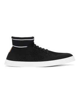 Black Knit High Top Sneakers by Fendi