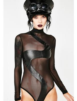 Sinful Sass Sheer Bodysuit by Allure Lingerie