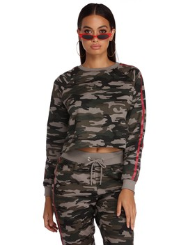 Comfy In Camo Pullover by Windsor