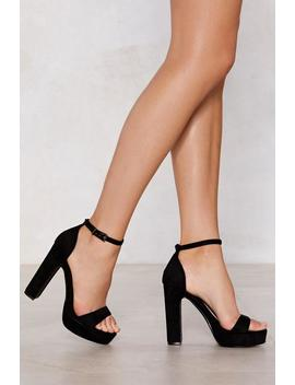 Step Things Up Suede Heel by Nasty Gal