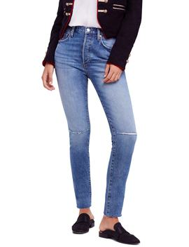 We The Free By Free People Stella High Waist Raw Hem Skinny Jeans by Free People
