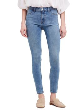 We The Free By Free People Long & Lean High Waist Denim Leggings by Free People