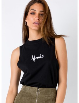 Afends Warped Bandcut Tee Black by Afends