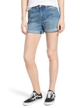 High Waist Denim Mom Shorts by Blanknyc