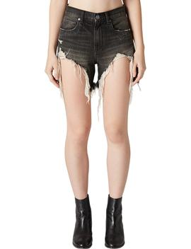 Distressed Denim Mom Shorts by Blanknyc