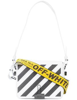 Off Whitestriped Logo Crossbody Baghome Women Off White Bags Shoulder Bagschest Print T Shirtstriped Logo Crossbody Bag by Off White
