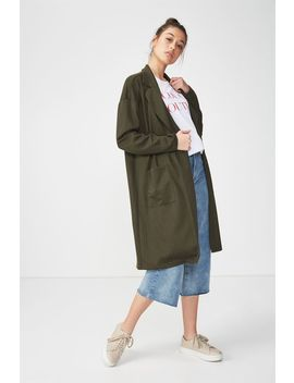 Longline Stretch Blazer by Cotton On