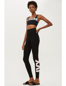 Layer Logo Ankle Leggings By Ivy Park by Topshop