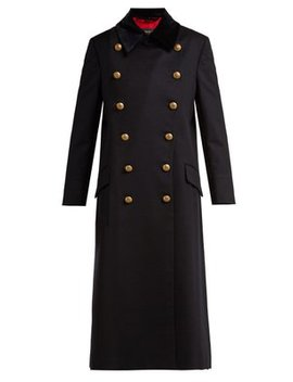Double Breasted Wool Military Coat by Burberry