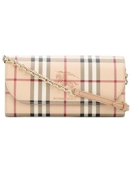 Burberry Haymarket Check Chain Wallethome Women Burberry Accessories Wallets & Purses by Burberry