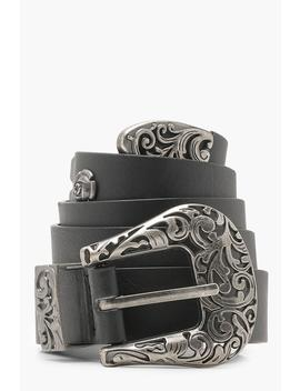 Filigree Western Belt by Boohoo
