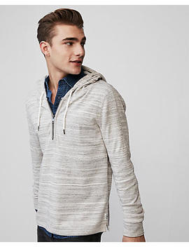 Textured Quarter Zip Hoodie by Express