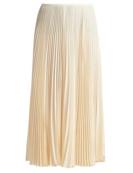 Abbot Pleated Silk Crepe De Chine Skirt by Joseph